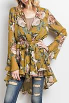 Easel Long-Sleeve Floral Kimono