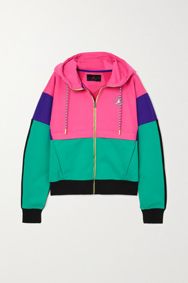 Nike Color-block Paneled Jersey Hoodie - Pink