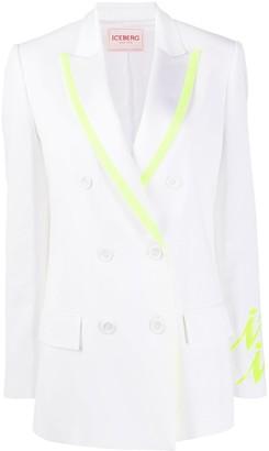 Iceberg Double Breasted Suit Jacket