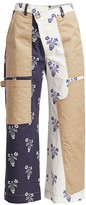Monse Flower-Pot Stretch-Cotton Cargo Trousers