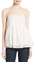 Joie Women's Pearlene Cotton Blend Shoulder Tie Camisole