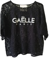 Gaelle Bonheur Black Lace Top for Women