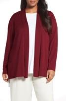 Eileen Fisher Plus Size Women's Tencel Lyocell Blend Shawl Collar Cardigan