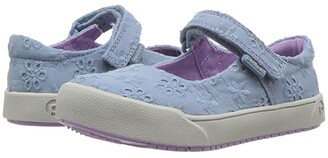 pediped Barbara Flex (Toddler/Little Kid) (Sky Eyelet) Girl's Shoes