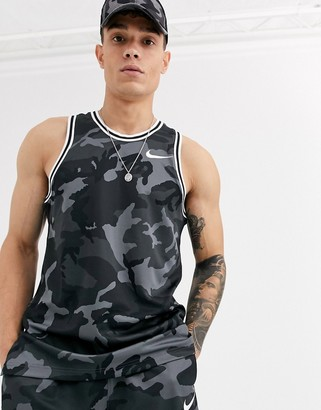 Nike Basketball dna camo tank in black