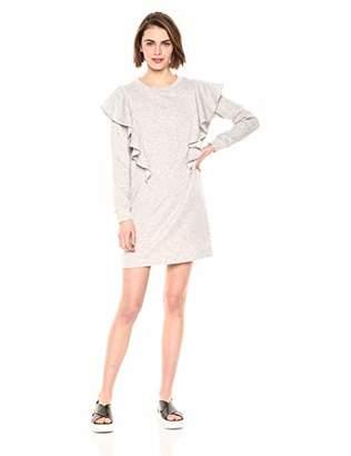 Cable Stitch Women's Ruffle Bodice Sweatshirt Dress