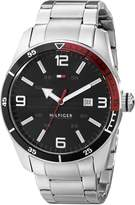 Tommy Hilfiger Men's 1790916 Casual Sport 3-Hand Stainless Steel Case and Bracelet Watch