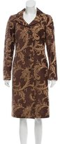 Luciano Barbera Jacquard Long Coat