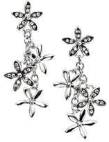 Element Sterling Silver Ladies' E3843C Oxidised Flower Cascade Earrings