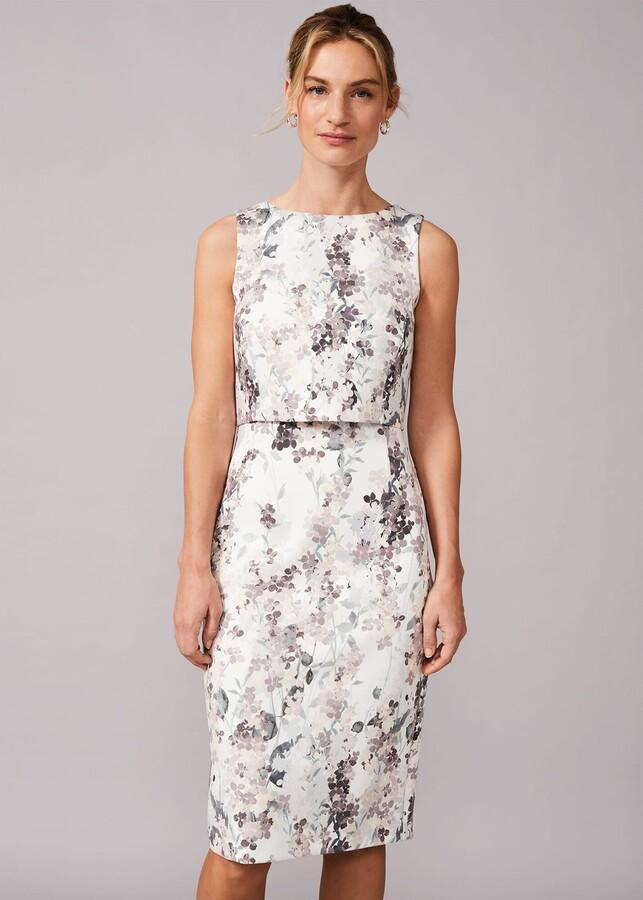 Phase Eight Violetta Double Layered Scuba Dress