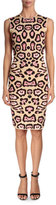 Givenchy Jaguar-Print Punto Milano Dress, Pink