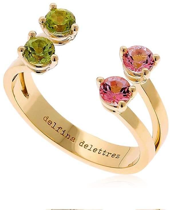 Delfina Delettrez Pink & Green Dots Ring