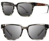 Shwood Men's 'Prescott' 52Mm Polarized Sunglasses - Pearl Grey/ Elm Burl/ Grey