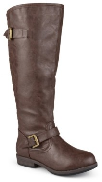 Journee Collection Spokane Extra Wide Calf Riding Boot