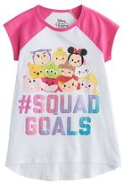 "Disney Disney's Tsum Tsum ""#Squad Goals"" Girls 7-16 High-Low Graphic Tee"