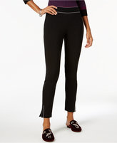 INC International Concepts Curvy-Fit Piped Skinny Ankle Pants, Created for Macy's
