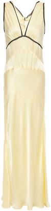 ALEXACHUNG Lace-trimmed Satin-crepe Maxi Dress