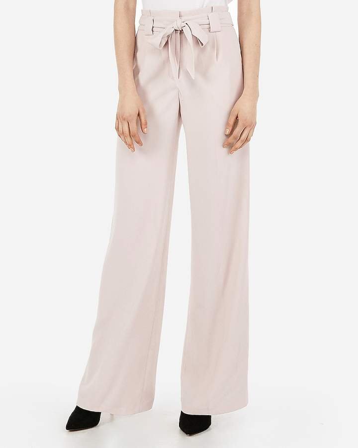 25f3d6ae6a04 Highs Waisted Tie Pants - ShopStyle