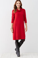 J. Jill Wearever Ottoman Knit Cowl-Neck Dress