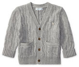 Ralph Lauren Boy Cable-Knit Cotton Cardigan