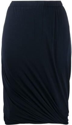 Lanvin Pre Owned 1990's Draped Skirt