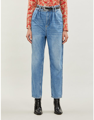 Sandro Relaxed-fit high-rise jeans