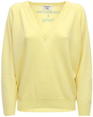 Luisa Via Roma V Neck Cashmere Knit Sweater