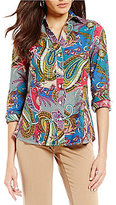 Investments Gold Label Non-Iron Long Sleeve Button Front Shirt