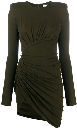 Alexandre Vauthier Ruched Fitted Dress