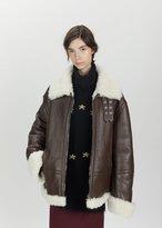 Vetements Lambskin Shearling Jacket Brown Size: X-Small