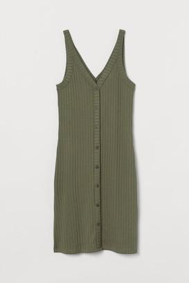 H&M Ribbed Dress - Green