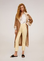 MANGO Straight fit cropped jeans pastel yellow - 1 - Women