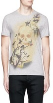 Alexander McQueen Skull hummingbird print organic cotton T-shirt