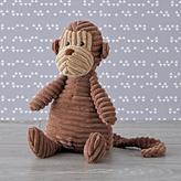 Jellycat Brown Corduroy Monkey Stuffed Animal
