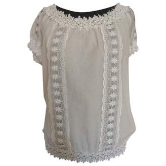 Charo Ruiz Ibiza White Cotton Top for Women