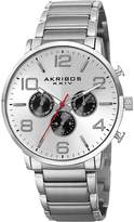 Akribos XXIV Men's Stainless Steel Chronograph Watch, 42mm