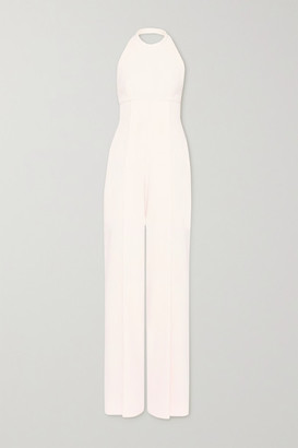 Emilia Wickstead Sabryn Crepe Halterneck Jumpsuit - Pastel pink