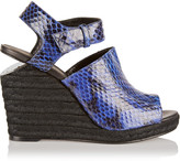 Alexander Wang Tori elaphe espadrille wedge sandals