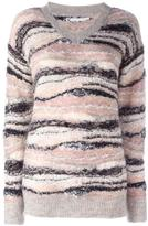 See by Chloe knitted v-neck jumper - women - Polyamide/Polyester/Viscose/Alpaca - M