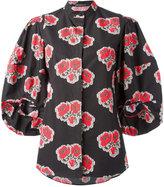 Alexander McQueen poppy print blouse - women - Cotton - 42