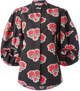 Alexander McQueen poppy print blouse - women - Cotton - 44