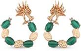 Dragon Optical Selda Jewellery Lady Malachite Hoop Earring
