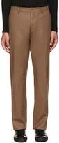 08sircus Brown Wool Flannel Trousers