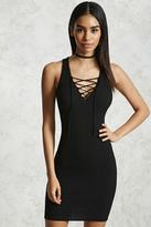 Forever 21 FOREVER 21+ Crisscross V-Neck Bodycon Dress