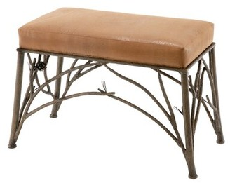 Trawick Faux Leather Bench Millwood Pines
