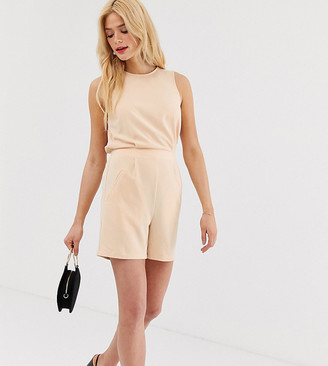 Y.A.S Tall tailored playsuit-Pink
