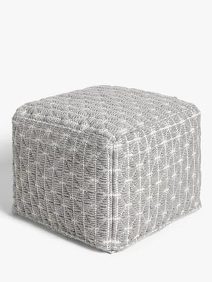 John Lewis & Partners Prism Pouffe, Grey