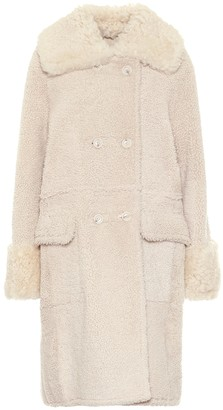 Yves Salomon Shearling cocoon coat