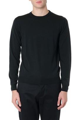 Zanone Dark Green Wool Sweater