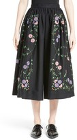 Comme des Garcons Women's Embroidered Wide Leg Pants